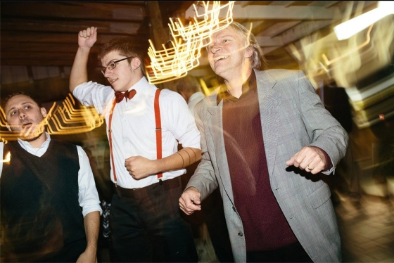 Dan, Sean, and my dad dancing together at Sondra's wedding last Fall